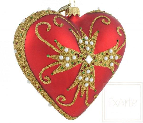 Weihnachtskugeln rote herz, bombka czerwone serce, bauble-red heart
