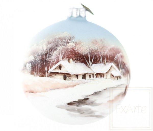 Kugel 10cm - Winterfarben