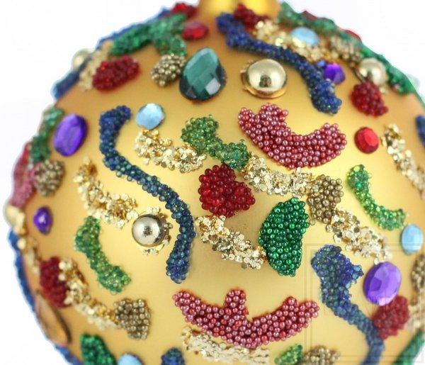 barwna bombka bożonarodzeniowa / Kugel 8cm - Karneval Aromen