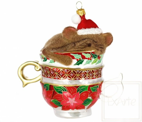 mysz w filiżance bombka na choinkę