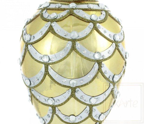 świąteczna bombka w kolorze złotym / Ei 11cm - Kaskade aus Gold