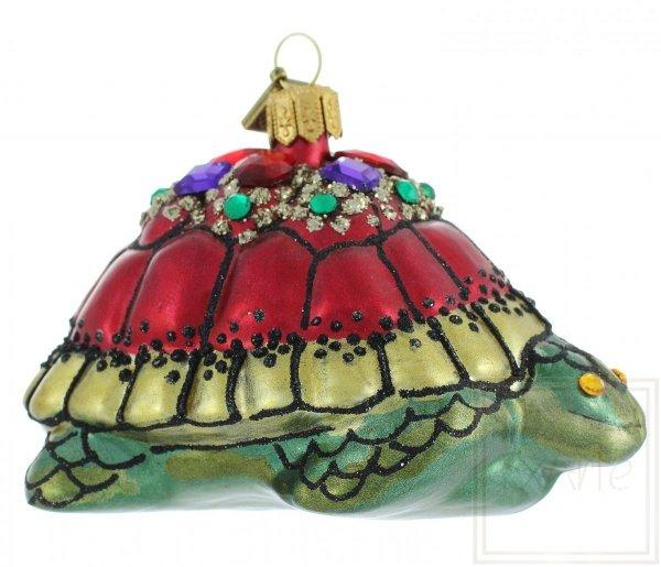 szklana bombka żółw / Königliche Schildkröte - 10cm