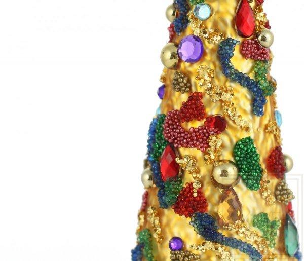 Szklana bombka choinka kolorowa, Weihnachtsbaum 16cm - Karnevalsaromen