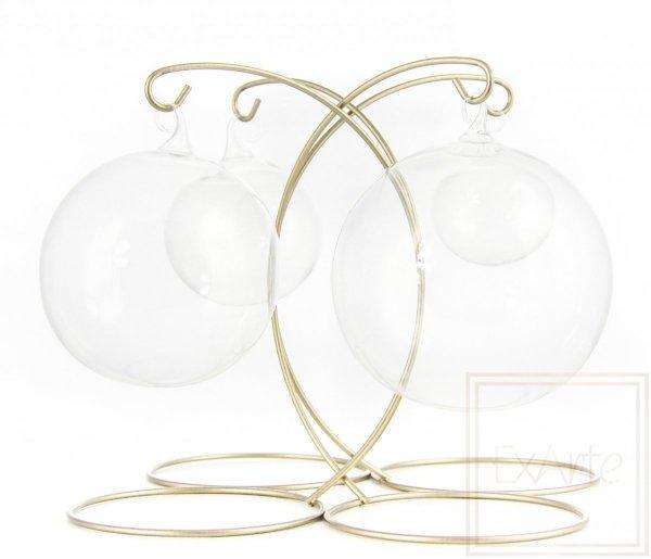 Bombka szklana kula transparentna, Ball 8 cm - Weihnachtskugeln