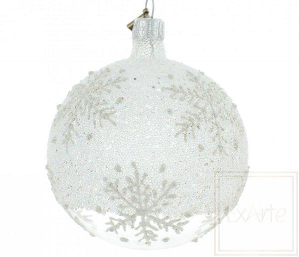 bombka świąteczna płatki śniegu / 8cm Kugel - Eisland