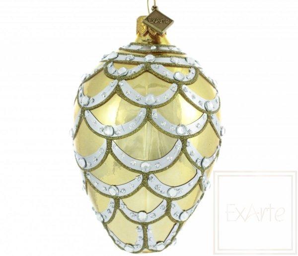 dekoracyjna bombka złota / Ei 11cm - Kaskade aus Gold