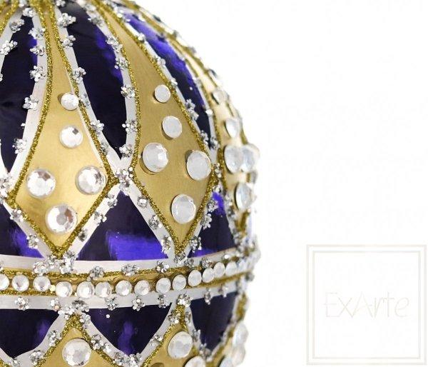 Jajko 13cm - Złoto na granacie