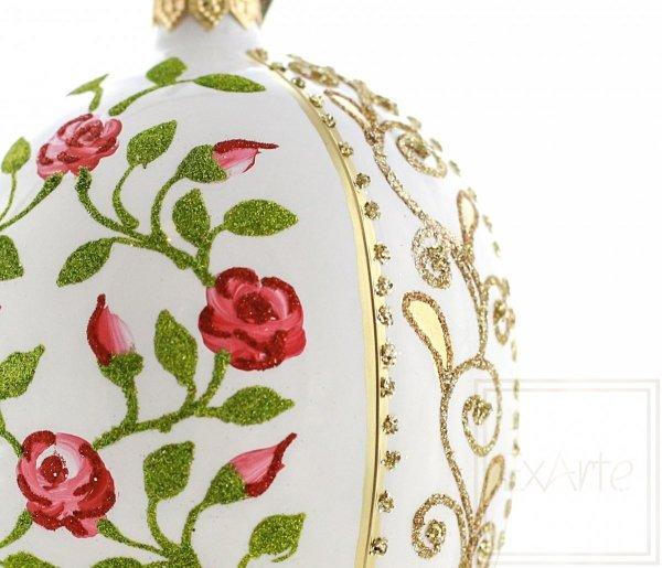 Jajko 13cm - Dzika róża