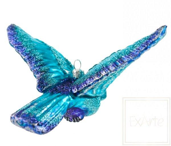 niebieski ptak bombki szklane