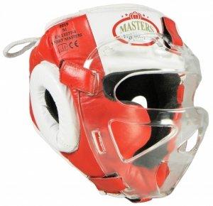 Kask bokserski MASTERS z maską wiazany od góry KSS-M-Box