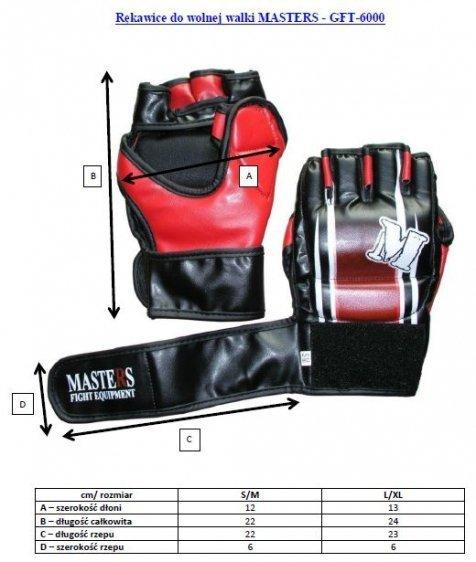 Rękawice do wolnej walki MASTERS - GFT-6000