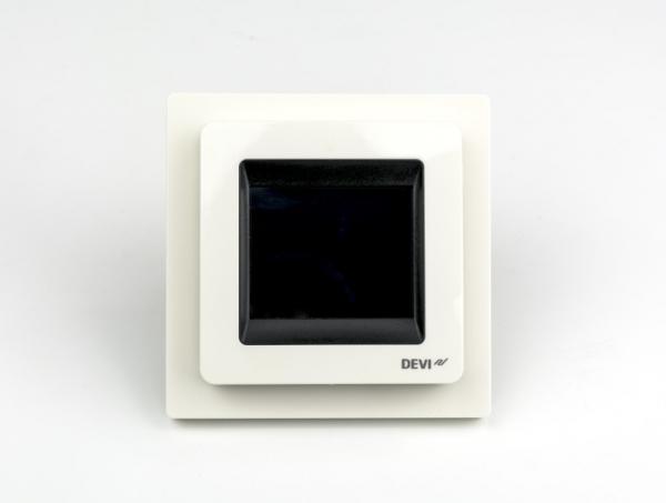 Termostat DEVIreg Touch biały widok z przodu