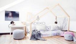 DM 80x160cm Łóżko dziecięce domek Mila ADEKO