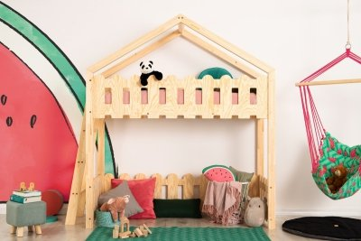 Kaiko BA 80x180cm Łóżko piętrowe dziecięce domek Mila ADEKO