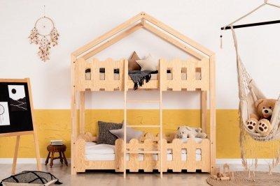 Kaiko P 80x180cm Łóżko piętrowe dziecięce domek Mila ADEKO