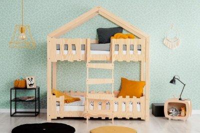 Zippo P 80x180cm Łóżko piętrowe dziecięce domek Mila ADEKO