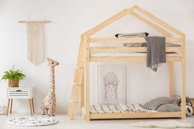 DMPB 70x160cm Łóżko piętrowe dziecięce domek Mila ADEKO