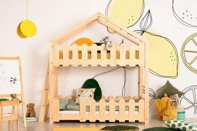 Kaiko B 80x140cm Łóżko piętrowe dziecięce domek Mila ADEKO