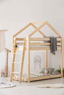 DMPB 80x140cm Łóżko piętrowe dziecięce domek Mila ADEKO