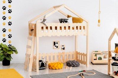 Zippo BA 80x140cm Łóżko piętrowe dziecięce domek Mila ADEKO