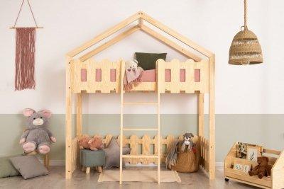 Kaiko PA 80x160cm Łóżko piętrowe dziecięce domek Mila ADEKO