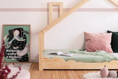 Luna D 80x170cm Łóżko dziecięce drewniane ADEKO