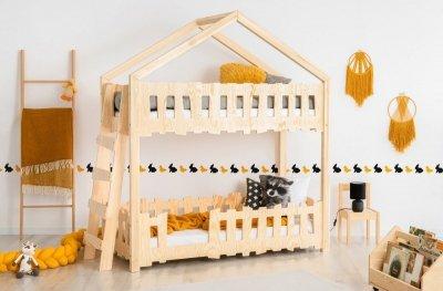 Zippo B 90x160cm Łóżko piętrowe dziecięce domek Mila ADEKO
