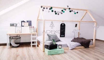 Łóżko dziecięce domek Mila NM 80x140cm ADEKO