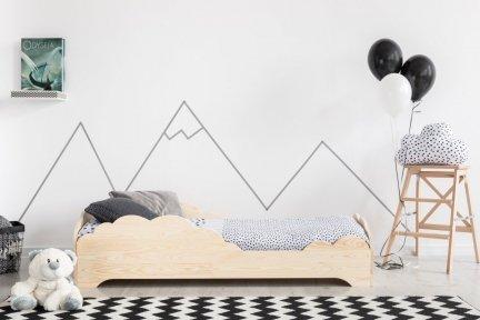 BOX 9 90x180cm Łóżko drewniane dziecięce