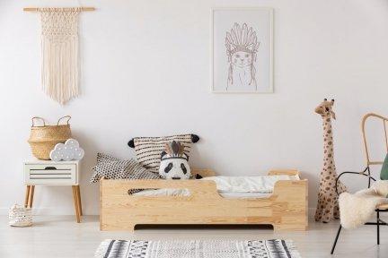 BOX 2 90x180cm Łóżko drewniane dziecięce