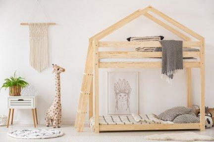 DMPB 80x180cm Łóżko piętrowe dziecięce domek Mila ADEKO