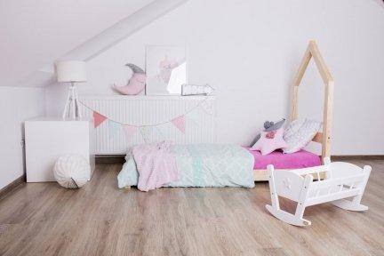 Łóżko drewniane Mila SM 80x190cm