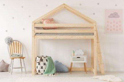 DMPBA 90x140cm Łóżko piętrowe dziecięce domek Mila ADEKO