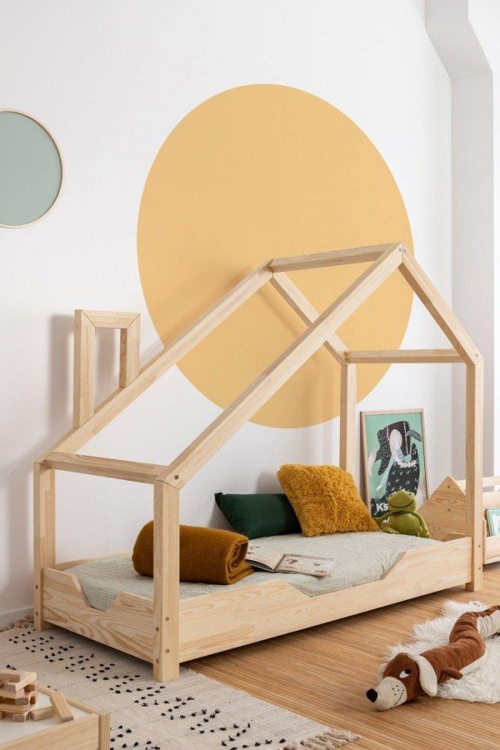 Luna B 80x160cm Łóżko dziecięce domek ADEKO