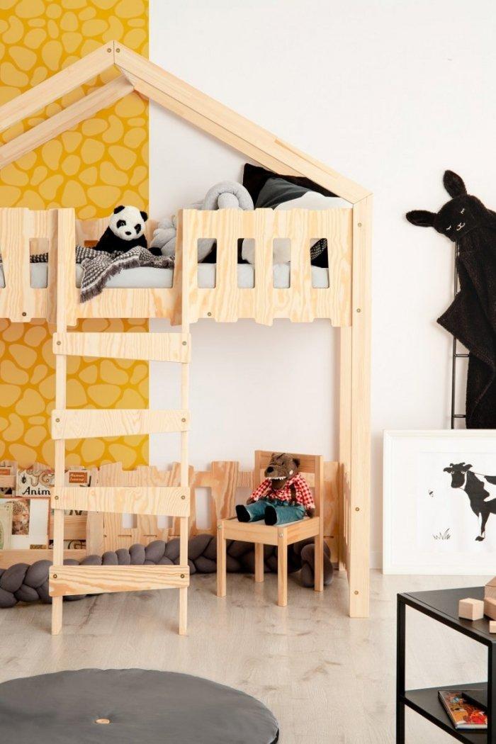 Zippo PA 90x140cm Łóżko piętrowe dziecięce domek Mila ADEKO