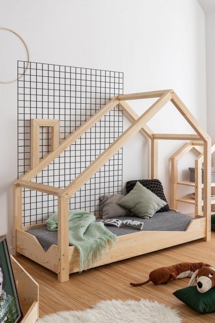 Luna A 90x140cm Łóżko dziecięce domek ADEKO