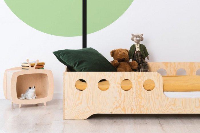 KIKI 5 - P  70x160cm Łóżko dziecięce domek ADEKO