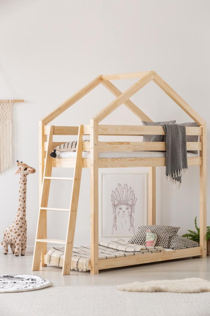 DMPB 80x160cm Łóżko piętrowe dziecięce domek Mila ADEKO