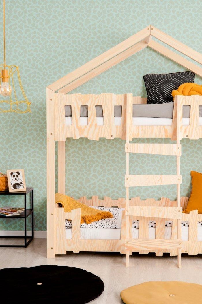 Zippo P 80x200cm Łóżko piętrowe dziecięce domek Mila ADEKO