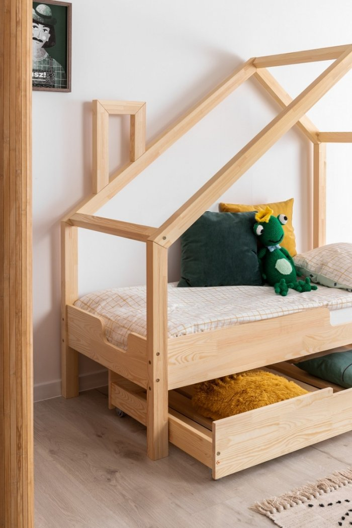 Luna C 80x180cm Łóżko dziecięce domek ADEKO