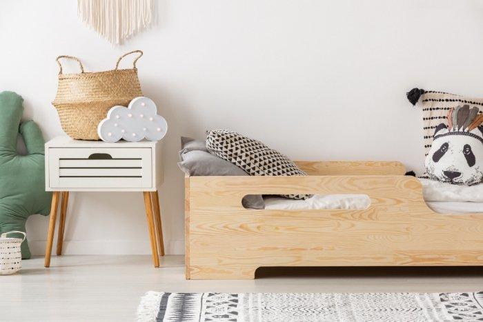BOX 2 80x200cm Łóżko drewniane dziecięce