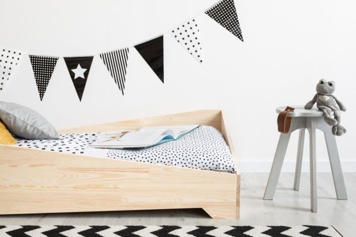 BOX 7 80x150cm Łóżko drewniane dziecięce