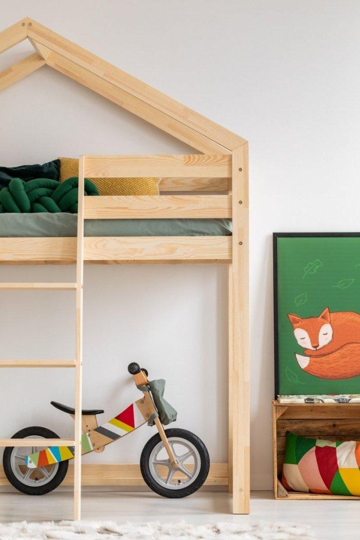 DMPA 90x140cm Łóżko piętrowe dziecięce domek Mila ADEKO