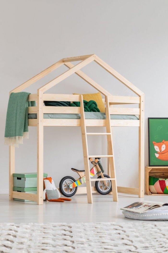 DMPA 80x140cm Łóżko piętrowe dziecięce domek Mila ADEKO