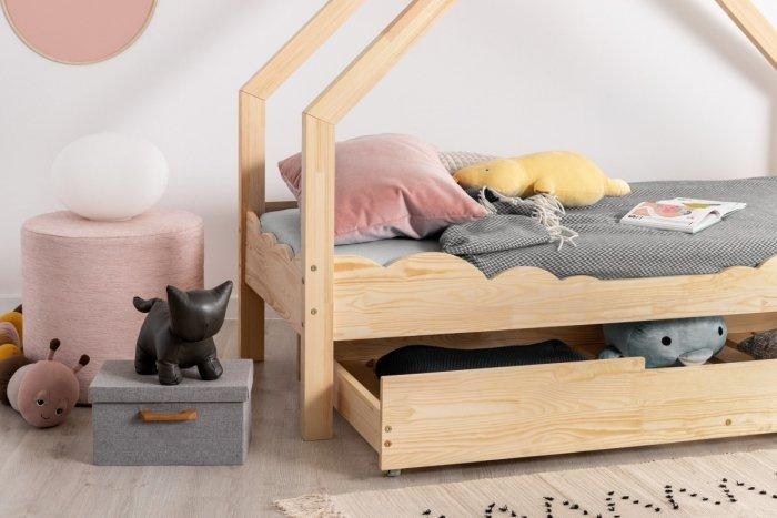 Loca D 80x140cm Łóżko dziecięce drewniane ADEKO