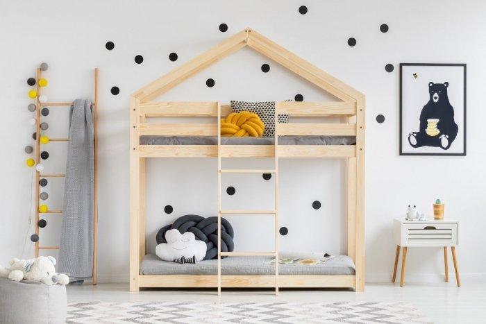DMP 70x160cm Łóżko piętrowe dziecięce domek Mila ADEKO