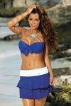 Spódniczka plażowa Marko Mila M-334 Blu Persia-Bianco