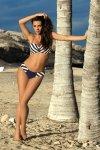 Kostium kąpielowy Marko Molly Blueberry M-308 Granatowo-biały (106)