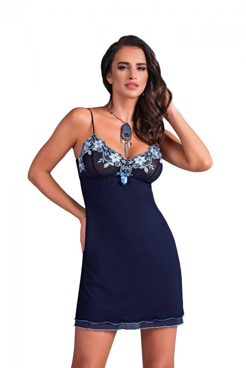 e79ef989285902 Donna Kylie granatowa Koszula nocna - Koszule i koszulki nocne ...