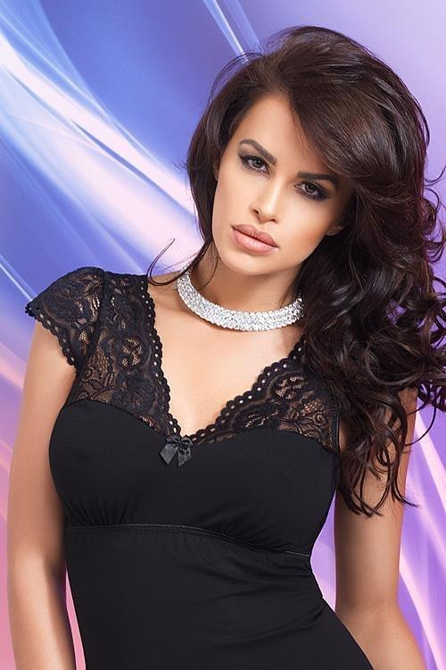 Donna Diana czarna Koszula nocna Koszule i koszulki nocne  q86D3
